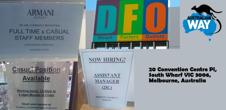ofertas de trabajo en australia Melbourne. estudia y trabaja en australia. australianway.es estudiaenaustralia.es. DFO