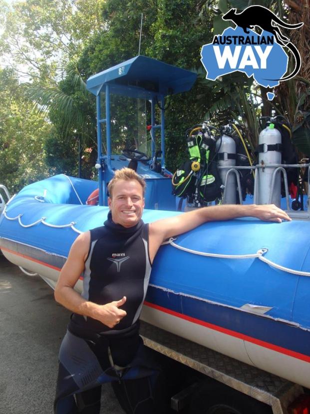 bucear en Byron Bay. estudia y trabaja en australia. australianway.es estudienaustralia.es  Iñaki Aizpun