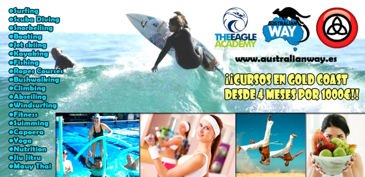 cursos de surf en australia. estudiar en australia. australianway.es. estudiaenaustralia.es. gold coast. clases de surf en gold coast