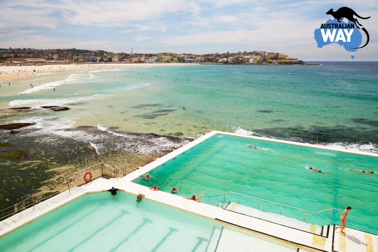 bondi beach, piscinas naturales, estudia en australia, estudiar en australia, australianway.es, estudiarenaustralia.es