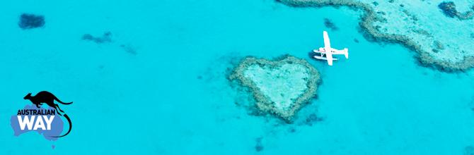 seaplane-heart-reef, estudiar en australia, australianway.es, estudiaenaustralia.es, la gran barrera de coral, corazon barrera de coral