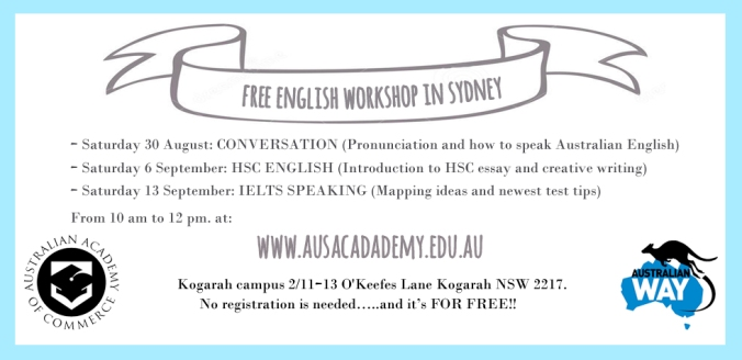 Me as a writing essay workshops sydney